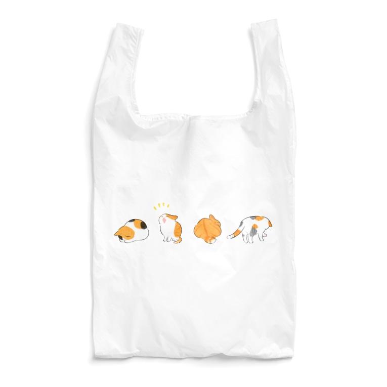 ふじひとの猫オレンジ Reusable Bag