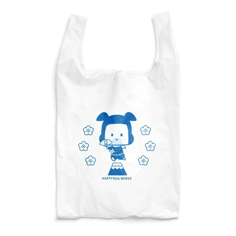 HAPPY DOG WORKS@SUZURIの忍者犬たろうくん_JAPAN Reusable Bag