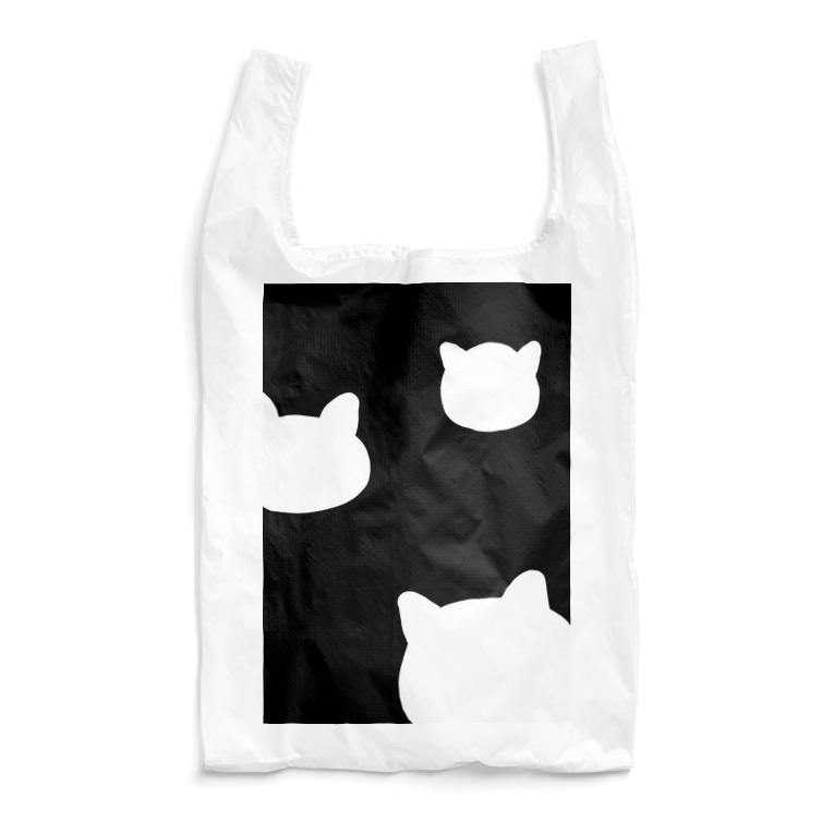 昼寝猫のひょこりスケルトン猫 Reusable Bag