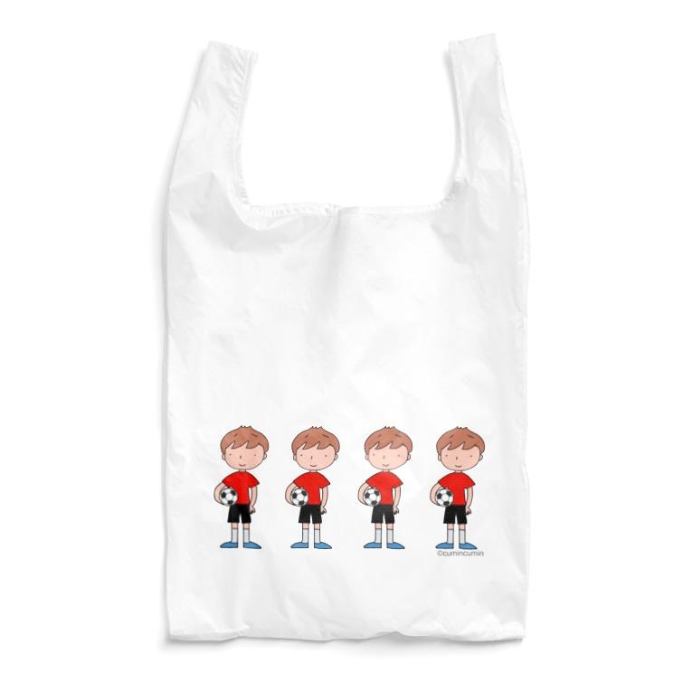 cumincuminのサッカーボールと少年 4人(カラー) Reusable Bag