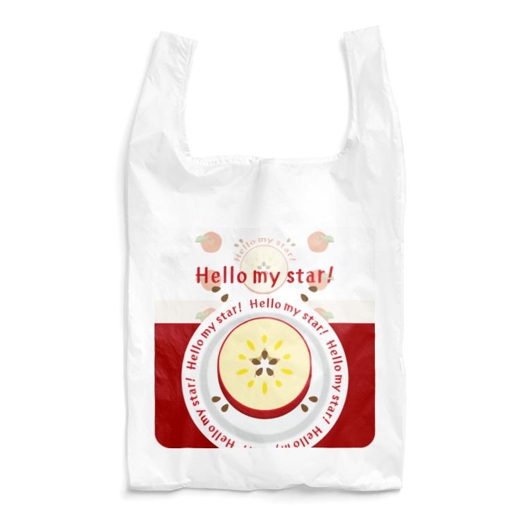 *suzuriDeMonyaa.tag*のCT105 輪切りのリンゴ*bg Reusable Bag
