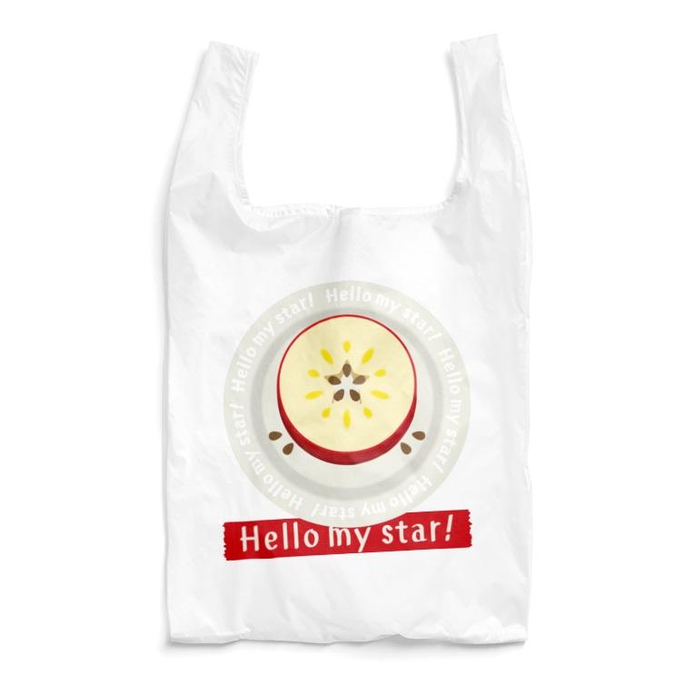 *suzuriDeMonyaa.tag*のCT105 輪切りのリンゴD*bg Reusable Bag