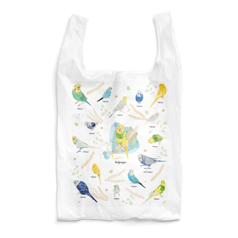 MIKIHO@トリピカルのセキセイエコバッグ Reusable Bag