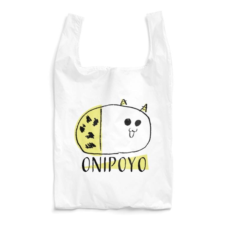 nemunoki paper itemのおにぽよ Reusable Bag