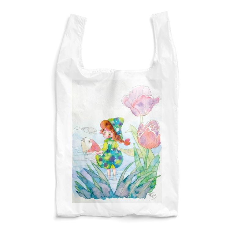 すずひろショップSUZURI店の水辺のティナ Reusable Bag