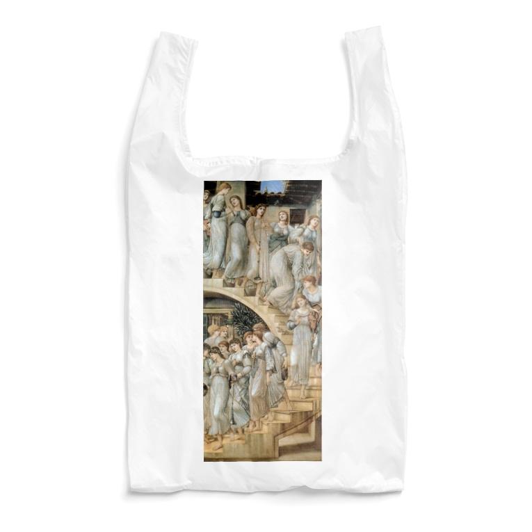 世界の絵画アートグッズのエドワード・バーン=ジョーンズ《黄金の階段》 Reusable Bag
