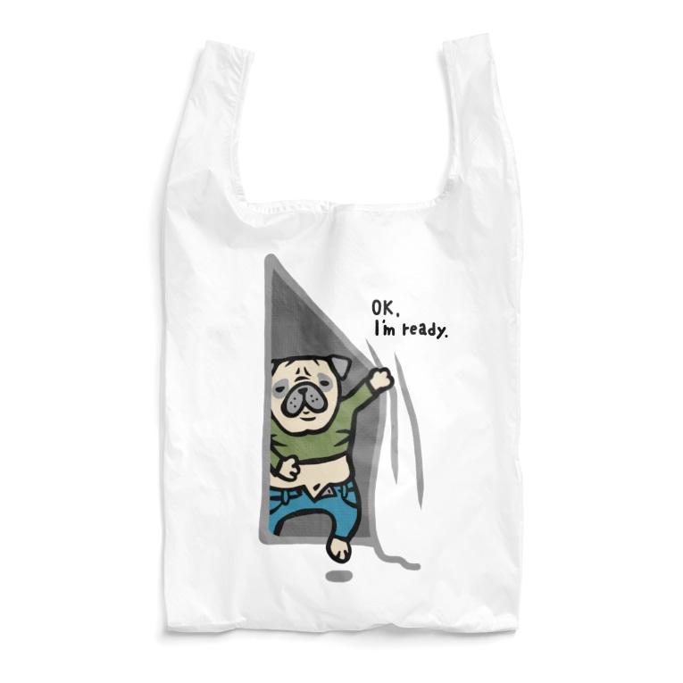shishimaru-gmenの気にしないパグさん☆ Reusable Bag