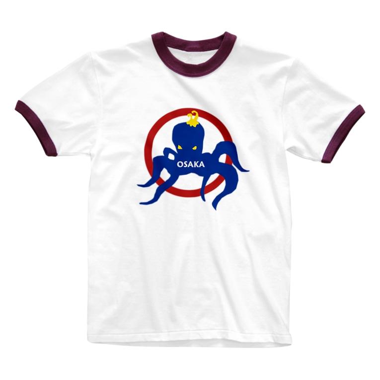 Dream ShakeのLazy Octpus Ringer T-shirts