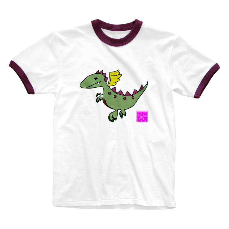 Cocopariのぱりごん(全4色) Ringer T-shirts