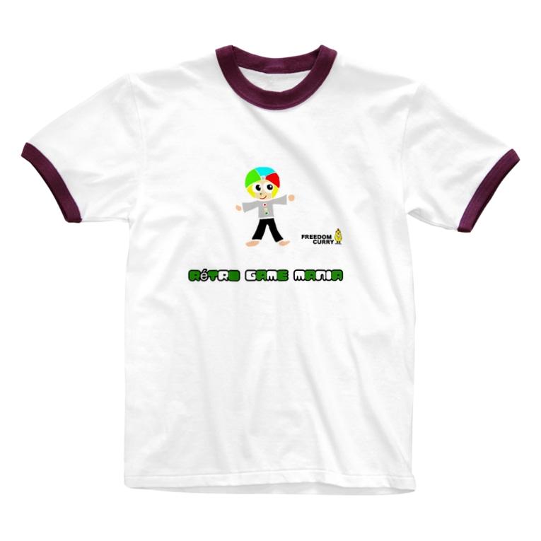 ダーさん大百科 FreedomCurry のダーさん大百科レトロゲームマニア【ゲーム少年 ダーさん】 Ringer T-shirts