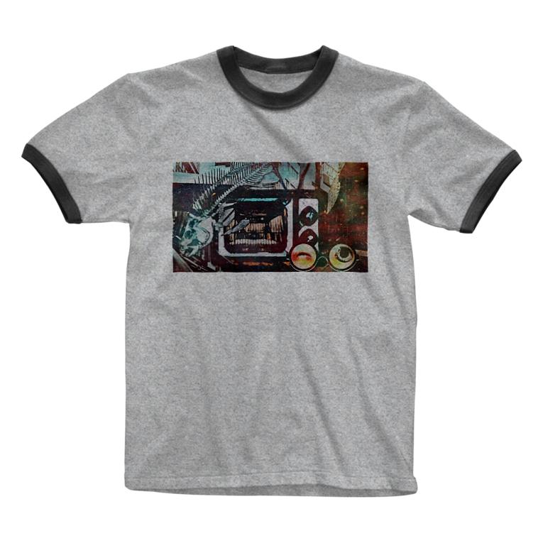 虚構商店のジゴクTV Ringer T-shirts