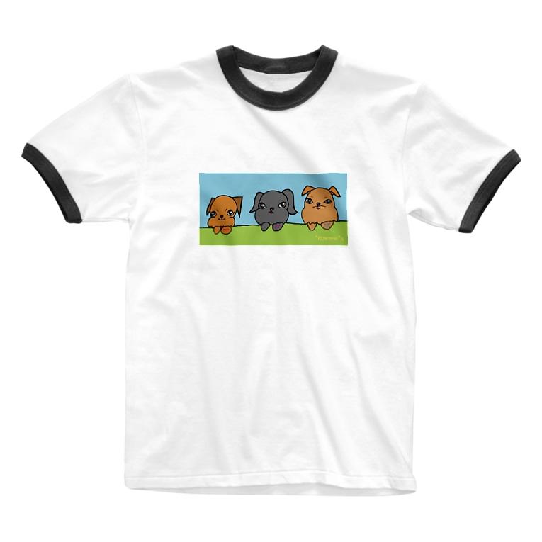*raneno*sの*ranenou*goods(グリフォンs) Ringer T-shirts