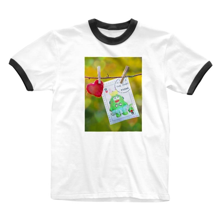 tonchiki のはーともーど Ringer T-shirts