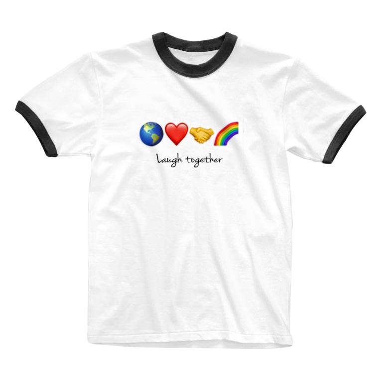 HOPEのLaugh together 2 Ringer T-shirts