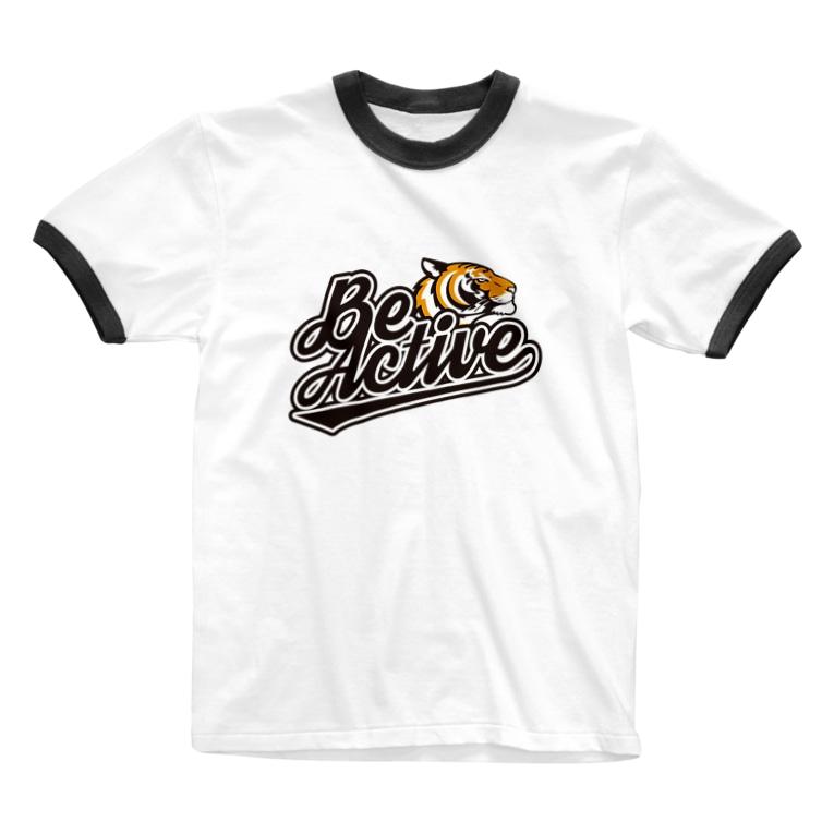 ポポのお店のBe Active Ringer T-shirts