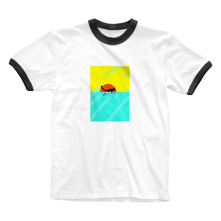 うちのねこのGO SUMMER! Ringer T-shirts
