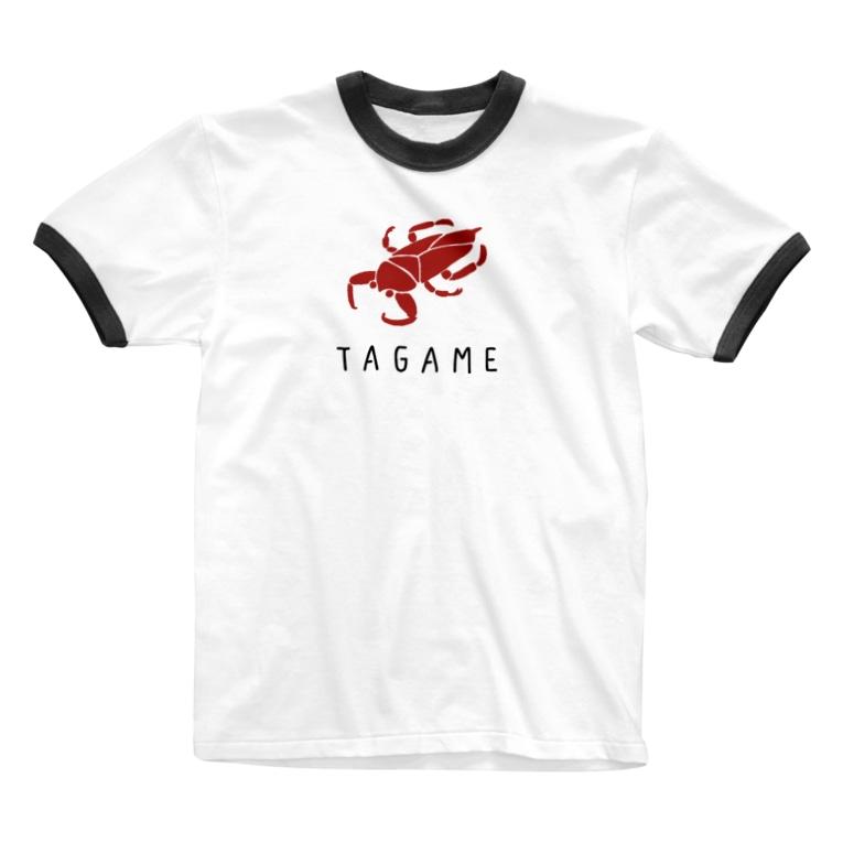 i-mokoのタガメ Ringer T-shirts