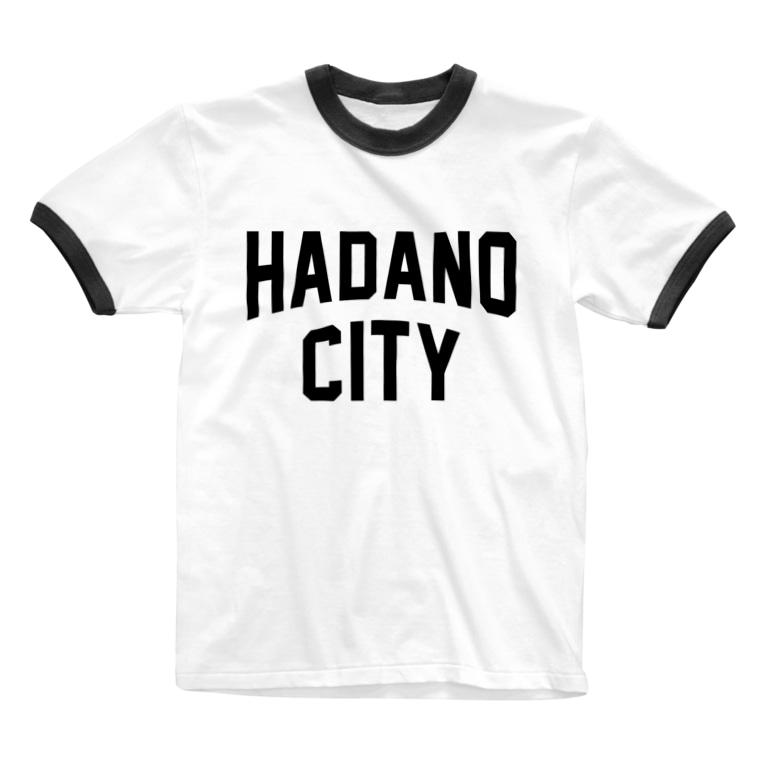 JIMOTO Wear Local Japanの秦野市 HADANO CITY Ringer T-shirts