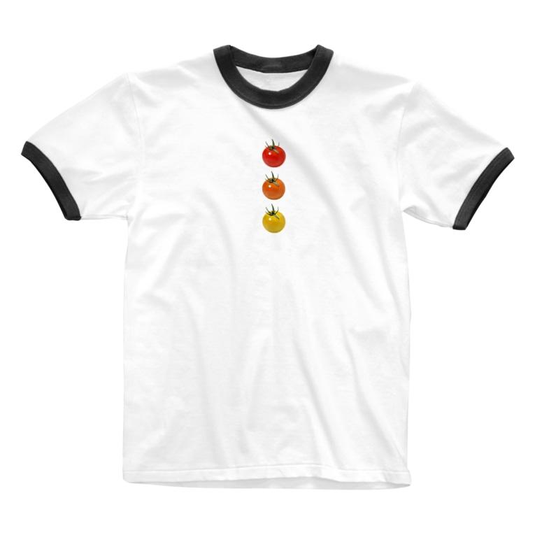 かえるのてぶくろのミニトマト3兄弟 Ringer T-Shirt
