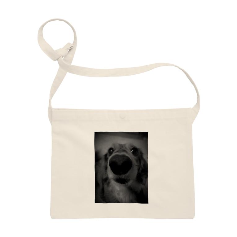 犬、猫 プリントの鼻デカわんこ Sacoches