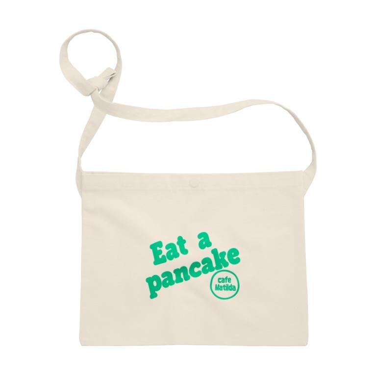 カフェ マチルダのマチルダオリジナルサコッシュ緑ロゴ Sacoche