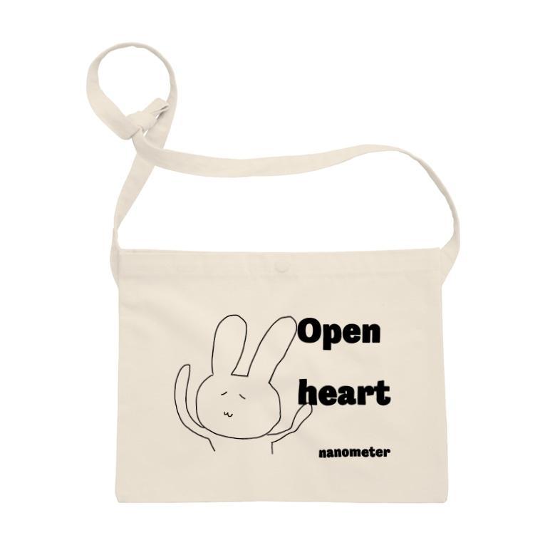"""nanometerのnanometer""""Open heart""""サコッシュ Sacoches"""