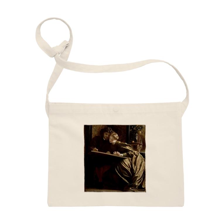 世界の絵画アートグッズのフレデリック・レイトン  《画家のハネムーン》 Sacoche