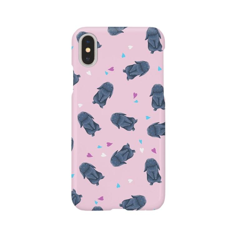 Fanfleecyのホーランドロップ(ブラック) Smartphone cases