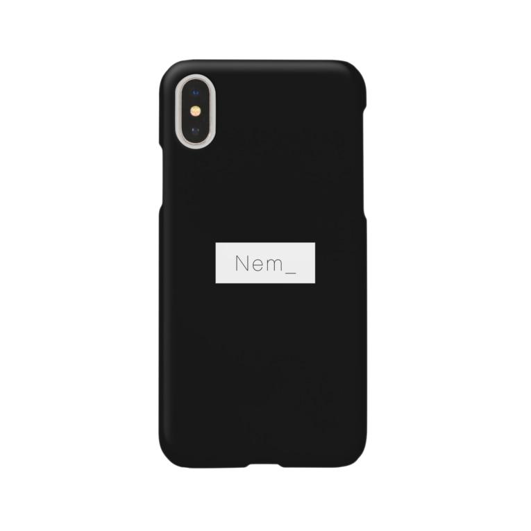 Nem_のねむふぉん_black Smartphone cases