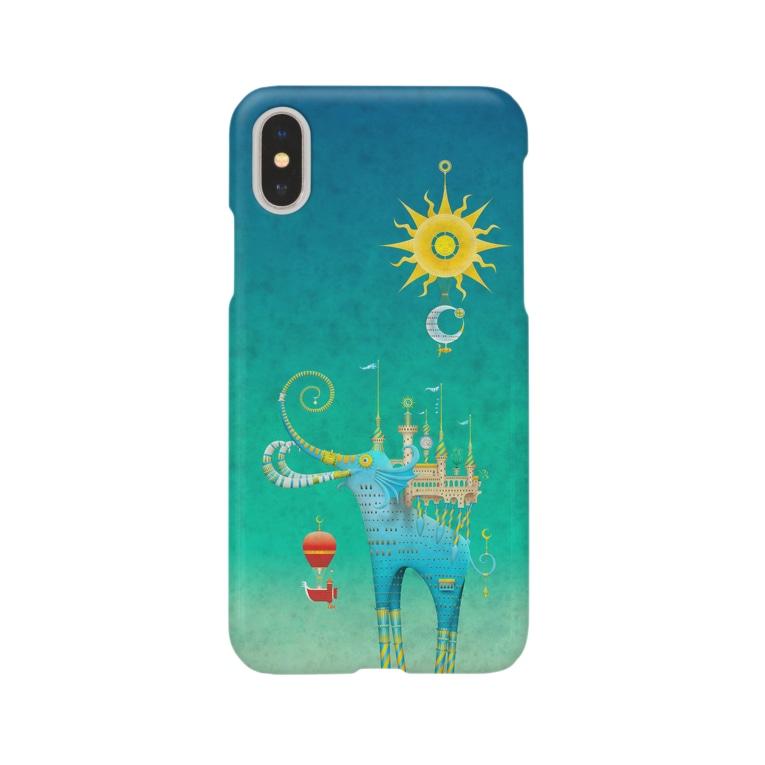 MarcelostのCastellini Elephantini Azure Smartphone cases