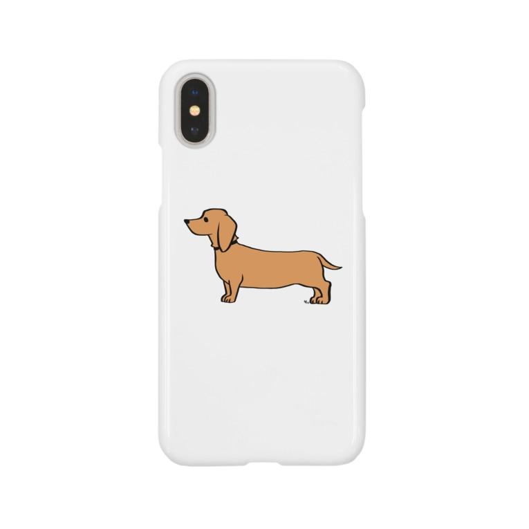 YFOのダックスフント黄 Smartphone cases