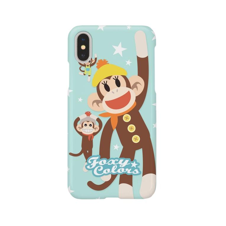 FOXY COLORSのソックモンキー Smartphone cases