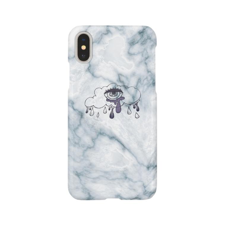 rai_houseの大理石 雨涙 Smartphone cases