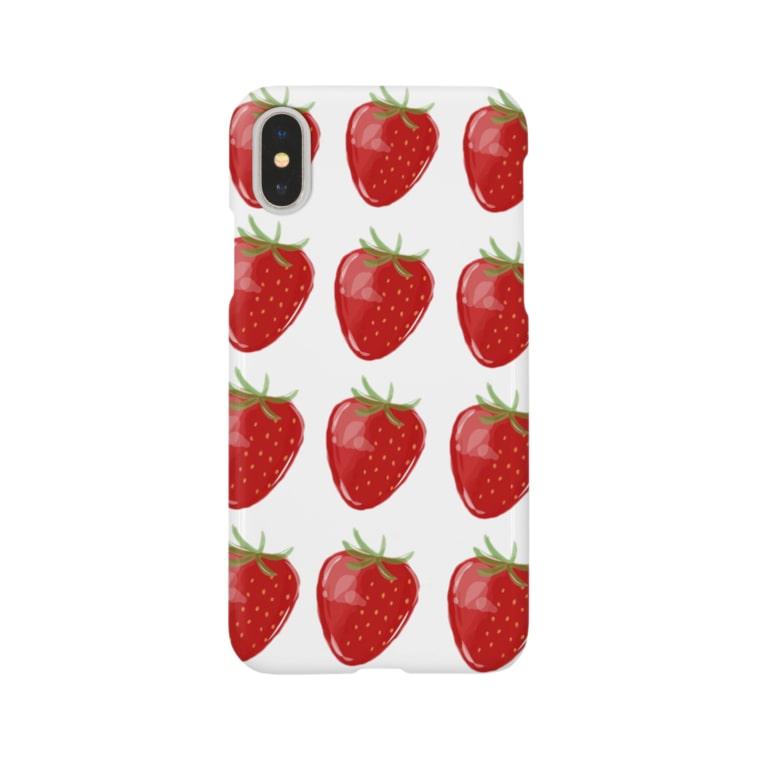 manmonjijiのいちご Smartphone cases