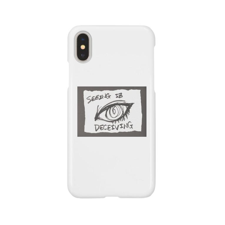 LUNARHOLIC STOREの偽諺~参~「百聞は一見に如く」(黒縁) Smartphone cases