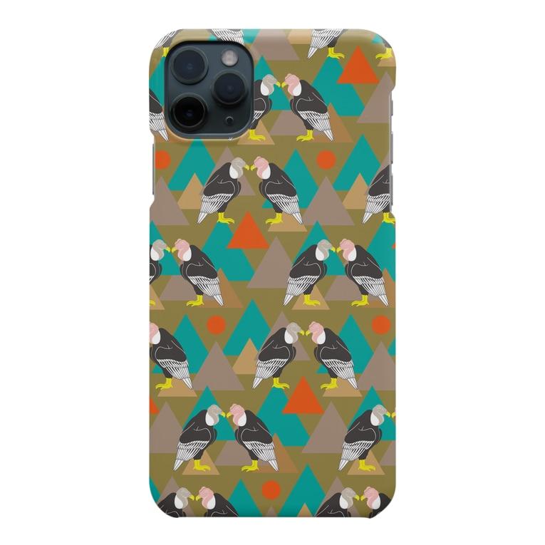 minachape STOREのコンドル_khaki Smartphone cases