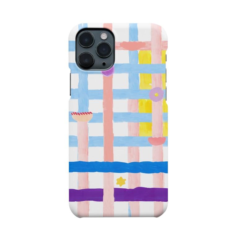 hoshi shopのflowers cross  pattern Smartphone cases