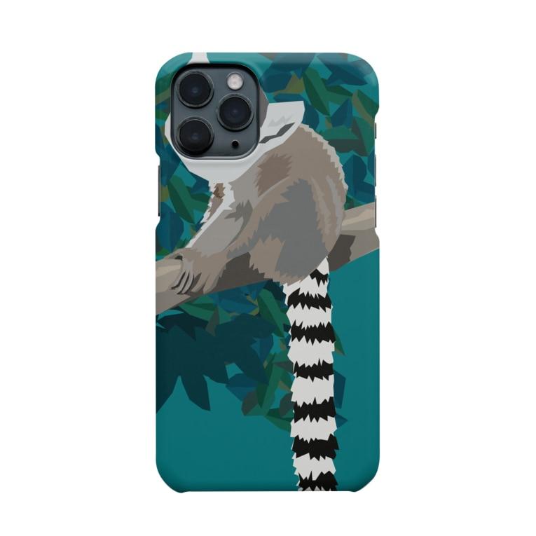gorozomachine_storeのWAO!キツネザル/iPhone 11推奨 Smartphone cases