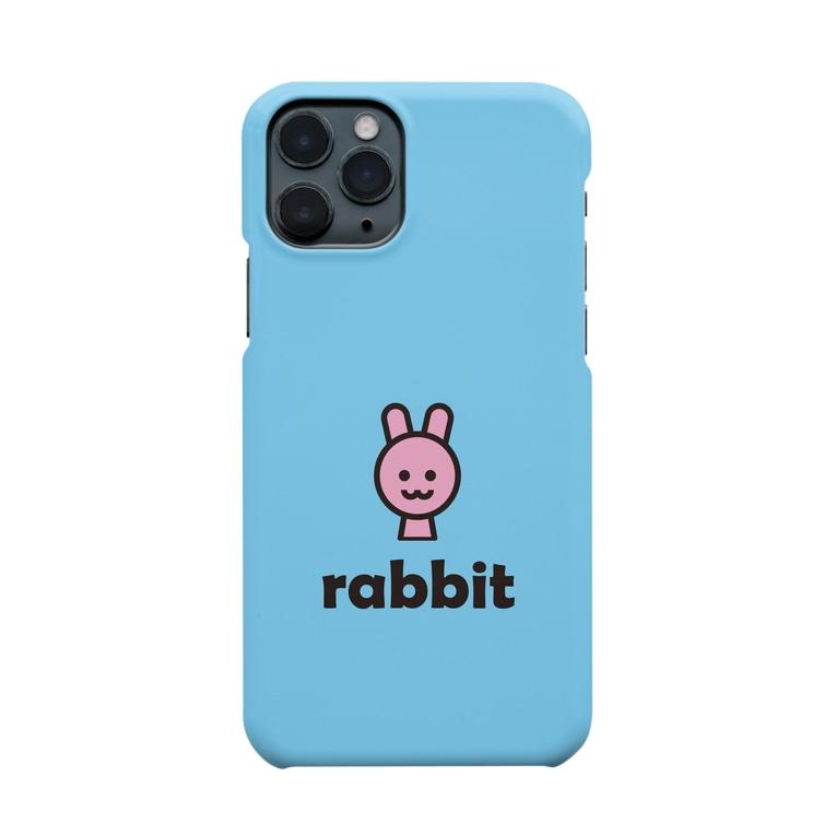 morecolorfulのウサギ(スカイブルー) Smartphone cases