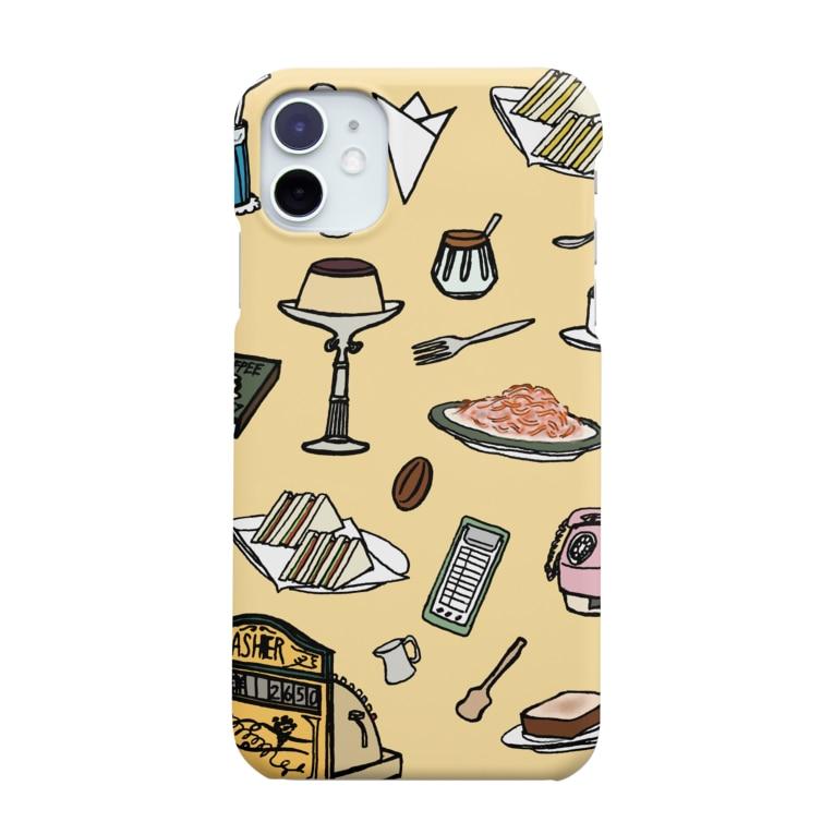 気ままに創作 よろず堂の純喫茶 いろどり 背景つき Smartphone cases