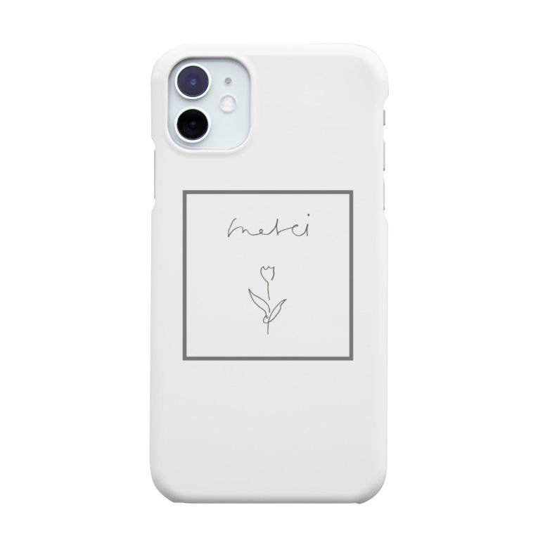 rilybiiのチューリップ*線画*フレーム Smartphone cases