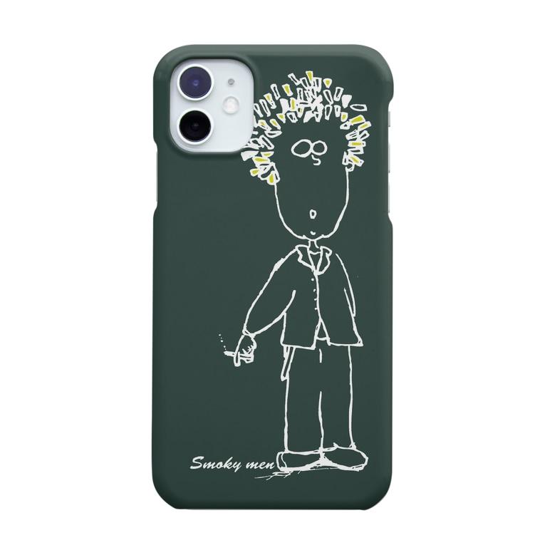 maplesのSmoky men white Smartphone cases