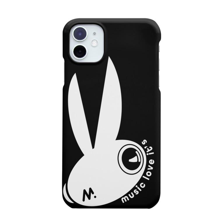 ラビッツマーケット@音楽メディアの公式グッズのえむらび(ブラック) Smartphone cases