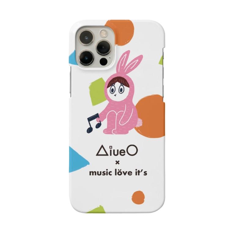 ラビッツマーケット@音楽メディアの公式グッズのAiueO×ミューラビコラボ(ラビB) Smartphone cases