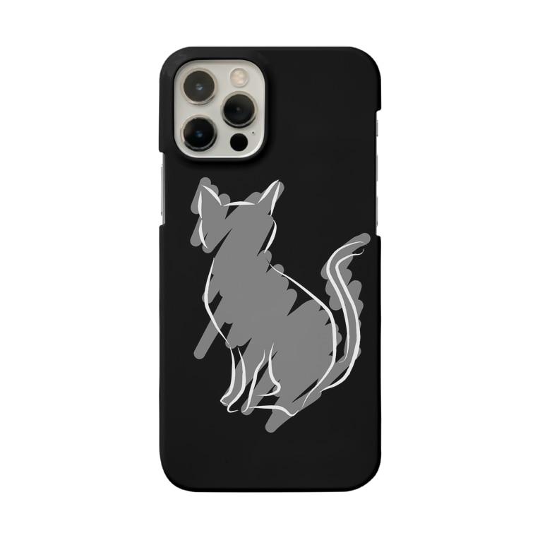 海のサワガニのシンプル猫スマホケース Smartphone cases