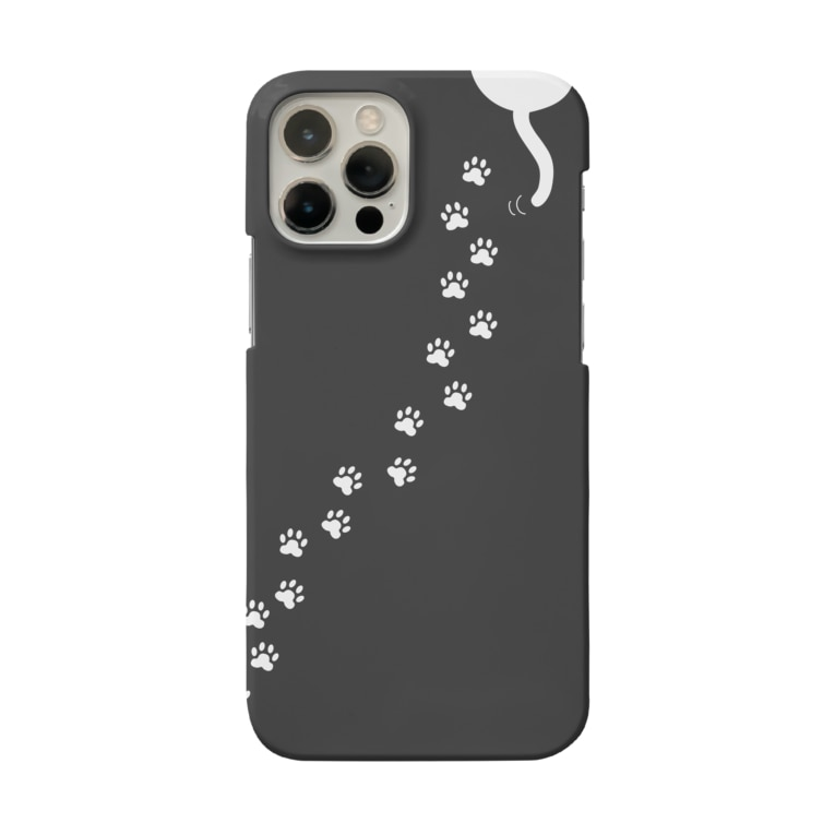 Life Design Factory PINCEの白猫あしあと for iPhone Smartphone cases