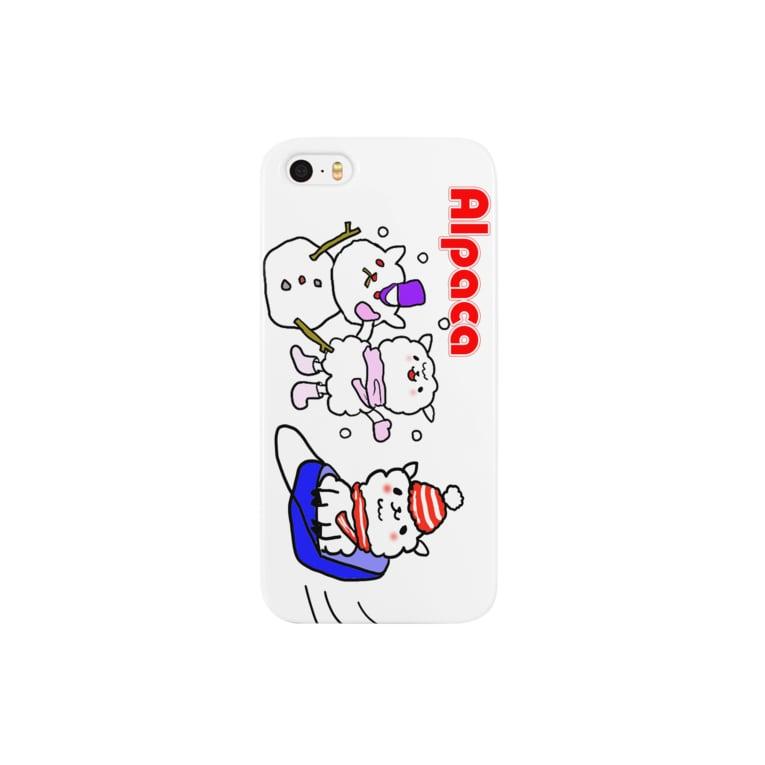 ぷりてぃアルパカのぷりてぃアルパカ Smartphone cases