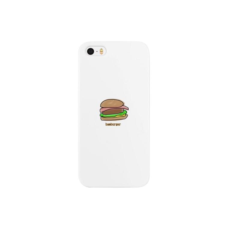 ジャスミンライスのハンバーガー Smartphone cases