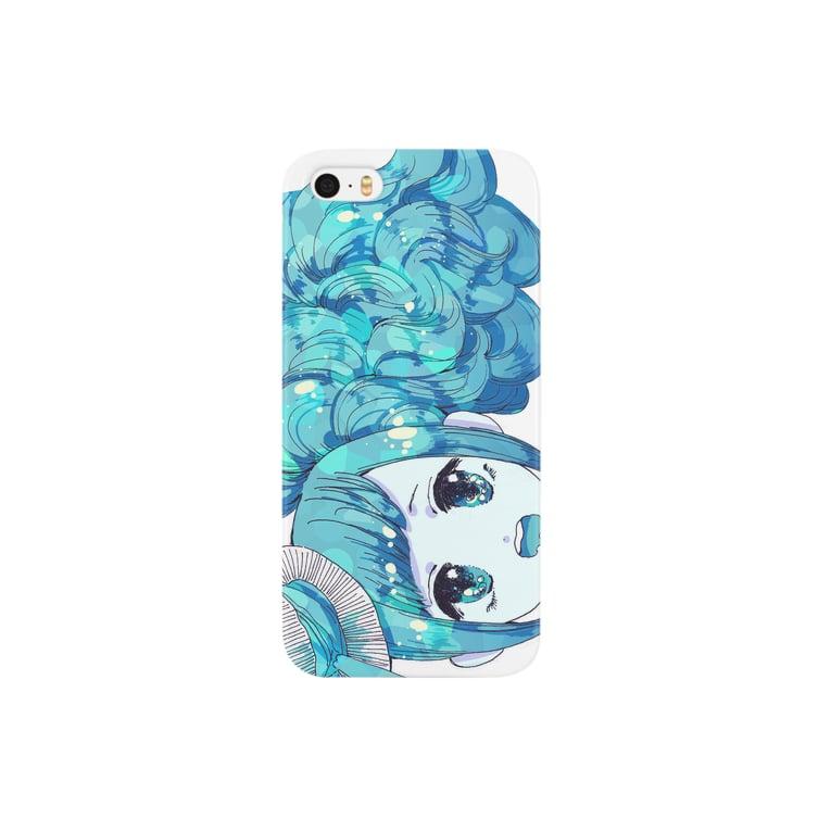 いちコの水色の少女。 Smartphone cases