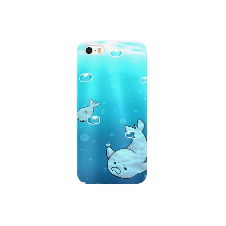 紫杏♀のエセ関西弁アザラシゴマフさん(遊泳) Smartphone cases
